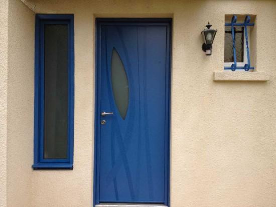 Pose d'une porte d'entré en Aluminium à Bordeaux